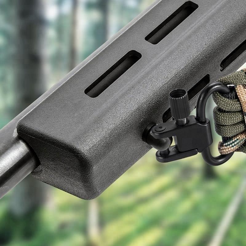 "Tactical Paracord 550 Rifle Shotgun Crossbow Sling Adjustable Strap w 1/"" Swivels"